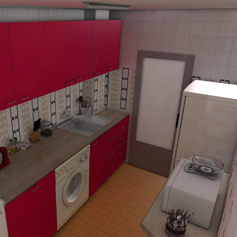kitchen ceiling lamp 3d c4d