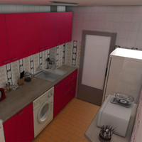 kitchen ceiling lamp 3d c4d