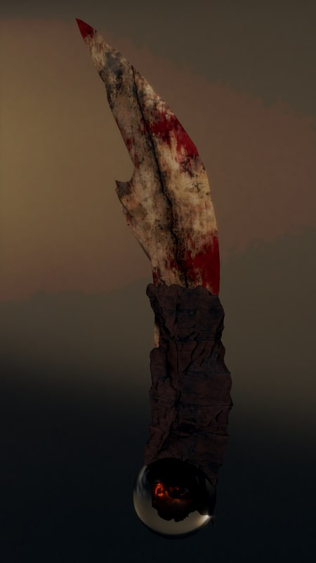 3d dagger bone bronze
