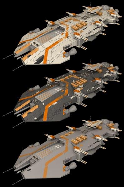 ender battlecruiser cruiser 3d 3ds