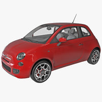 fiat convertible 500 2014 3ds