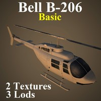bell basic helicopter 3d model