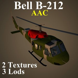 3d bell aac helicopter model
