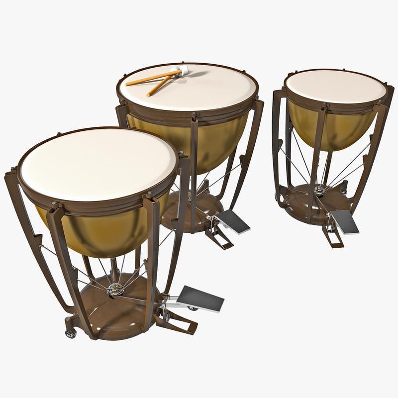 3d kettle drum model