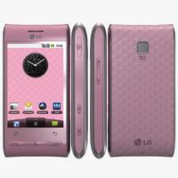 lg optimus gt540 pink 3d max