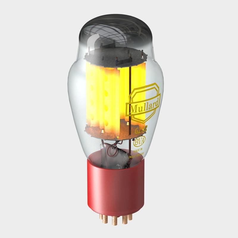 3d c4d mullard vacuum tube