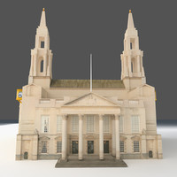 Historical Building Low Poly