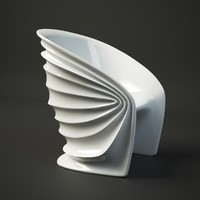 free italo modesty veiled armchair furniture 3d model