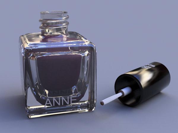 maya nail polish bottle