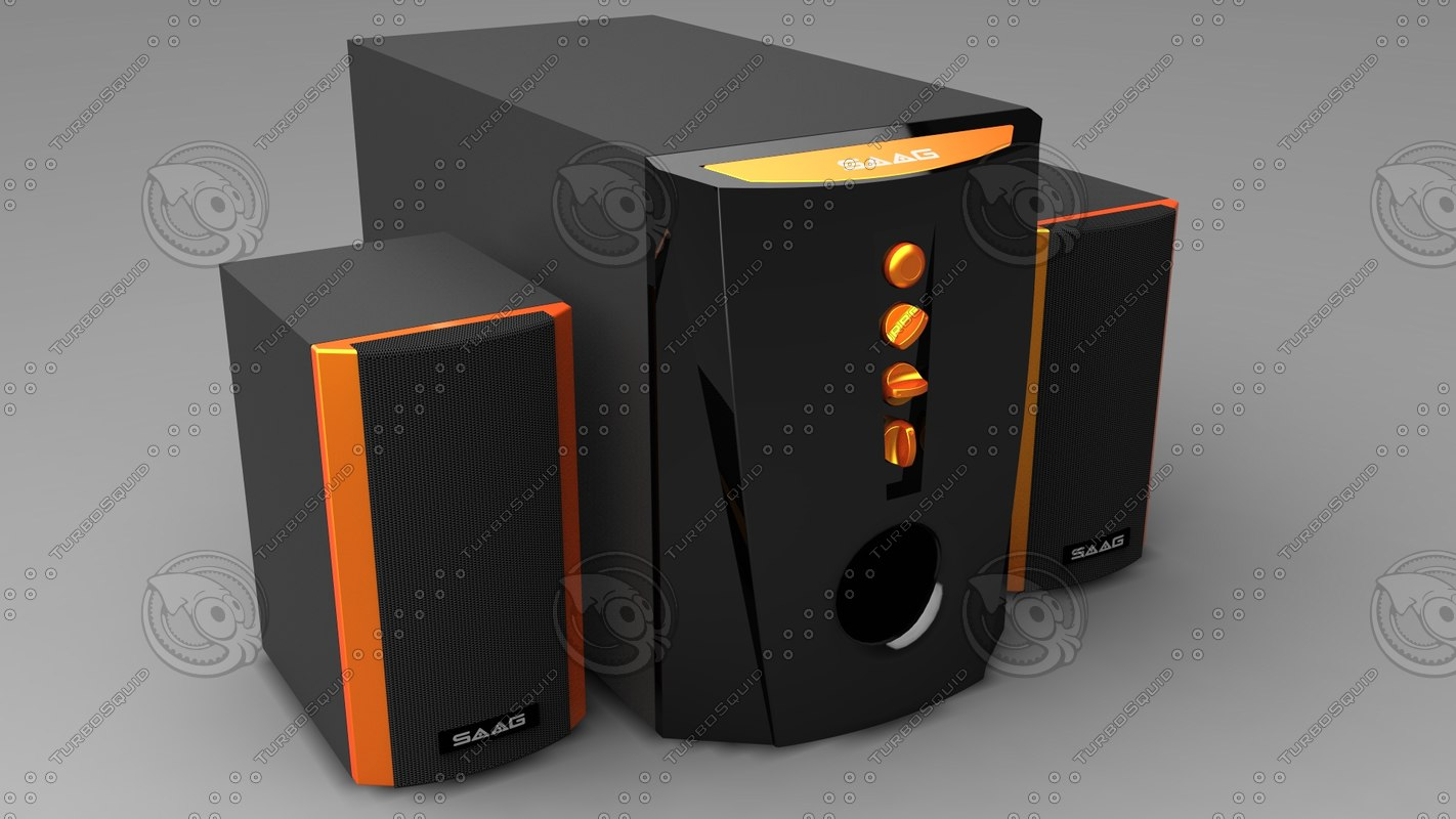 speaker 3d 3dm