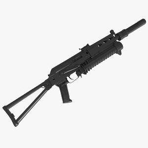 3d pp-19 bizon submachine gun
