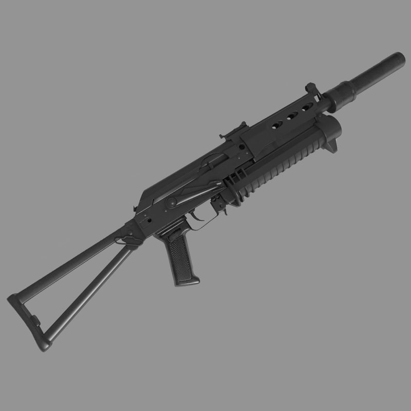 3d pp-19 bizon submachine gun