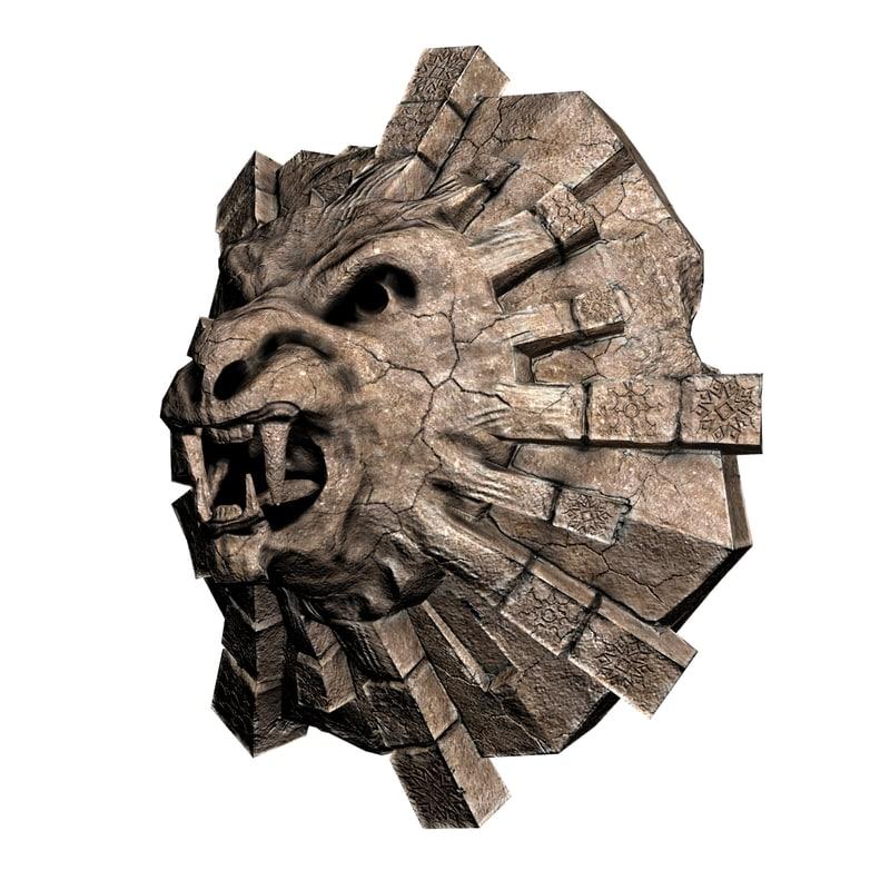 tiger stone 3d max