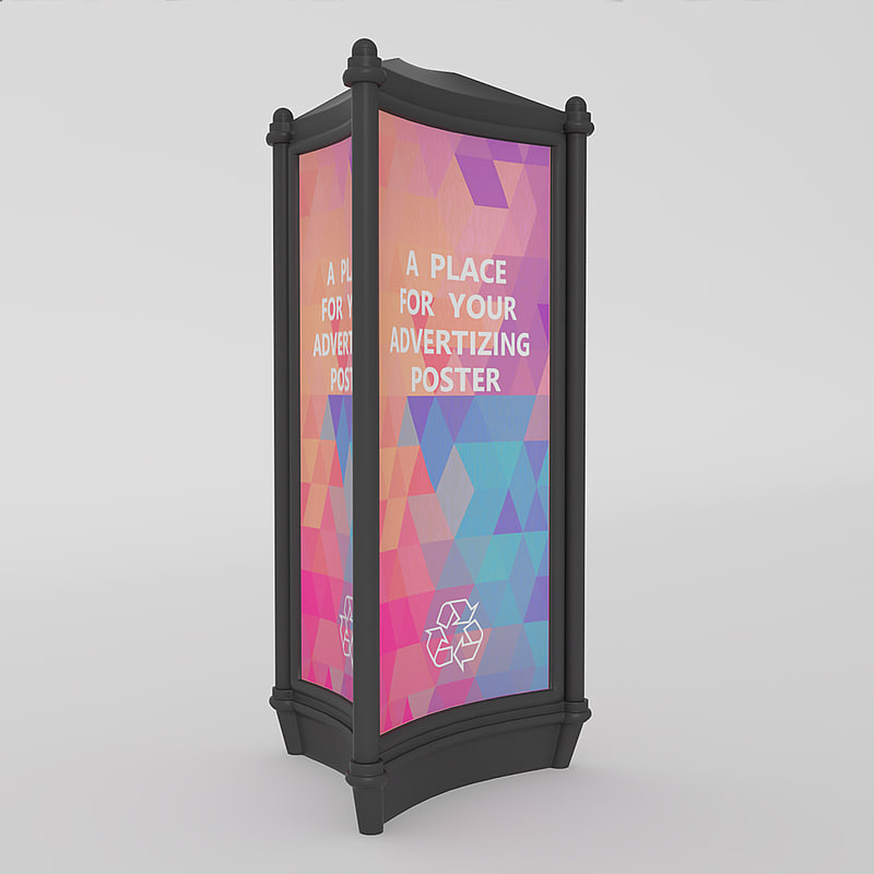 3d outdoor advertising stand