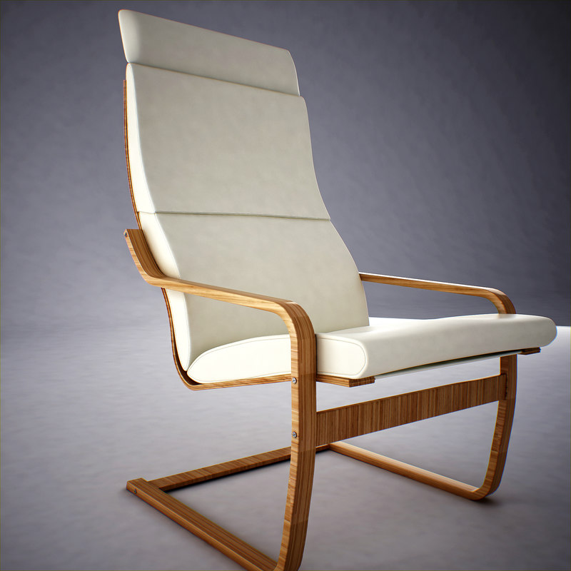 Ikea Poang Armchair 3d Model