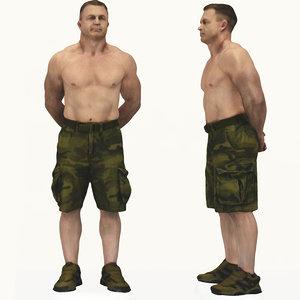 scan male body builder 3d model