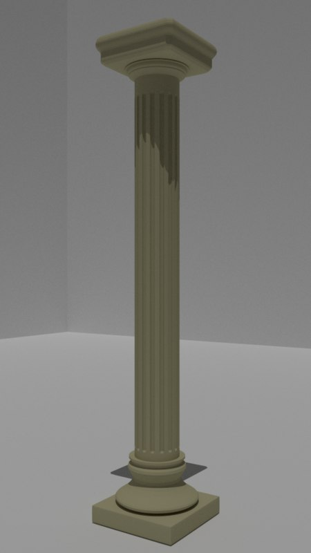 3d roman column model