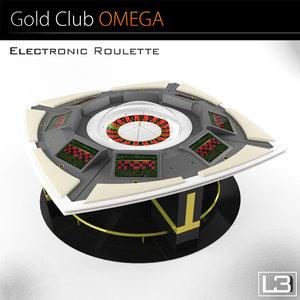 3d model electronic roulette