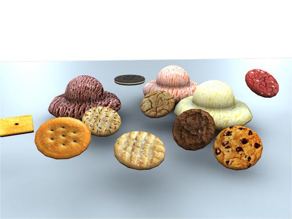 cookies ice cream obj