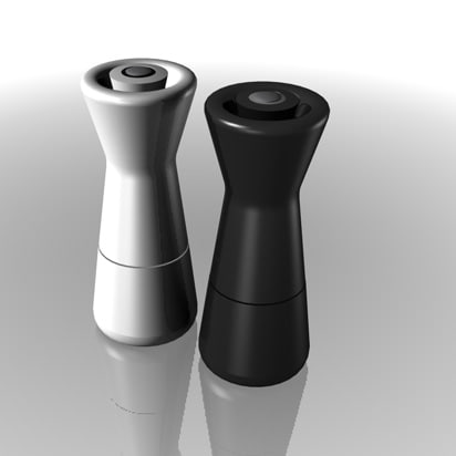 set salt pepper pots c4d free