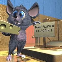 max cute cartoon mouse rigged