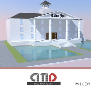citid town hall 3d dwg