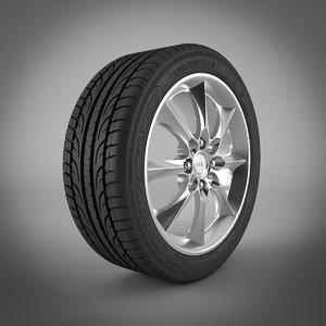 tire dunlop sp sport 3d model