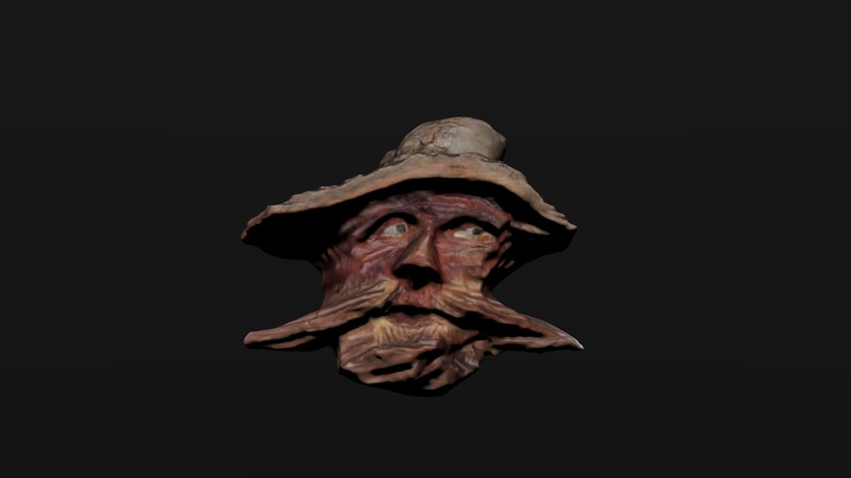 3d wooden mask