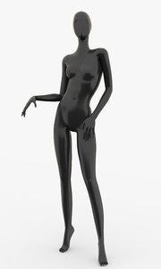 3d slim female mannequins model