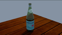 bottle glass 3d model