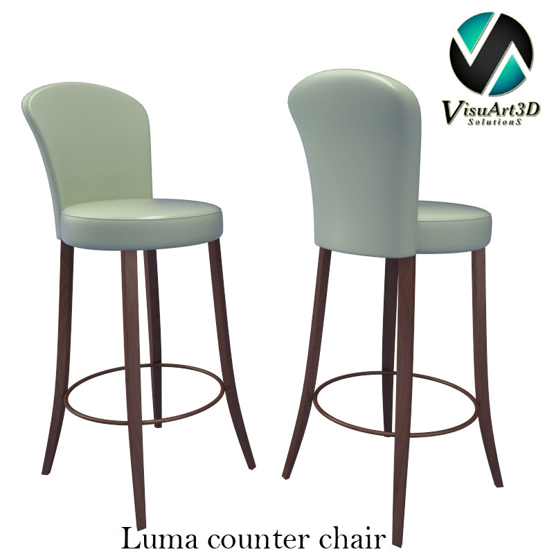 luma chair materials 3d model