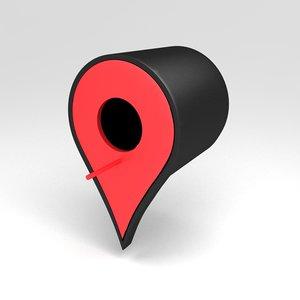 3d google pin - model