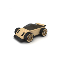 Black wooden toy car