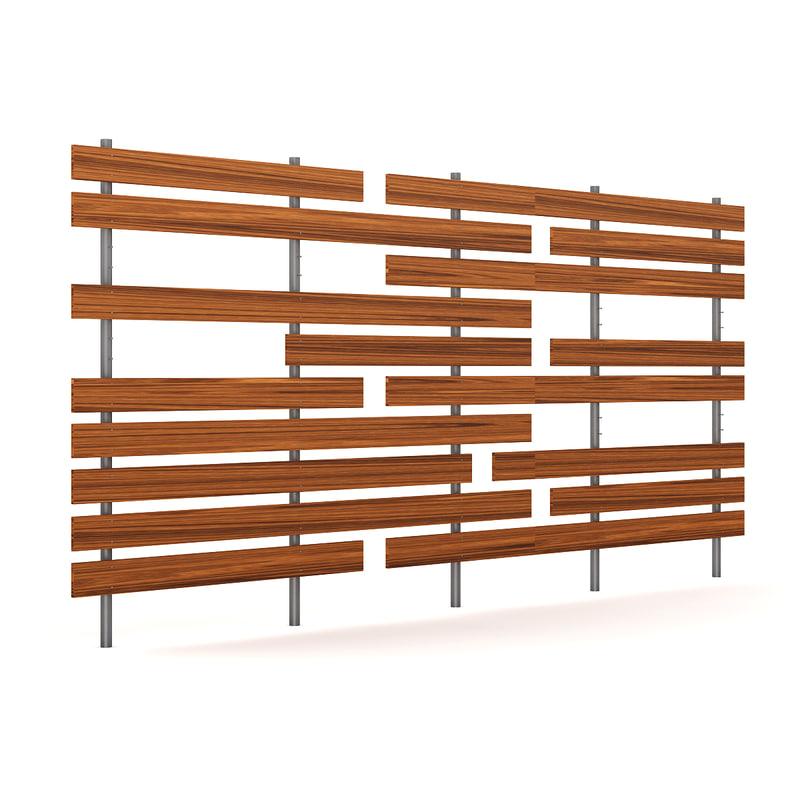 c4d wooden fence wood