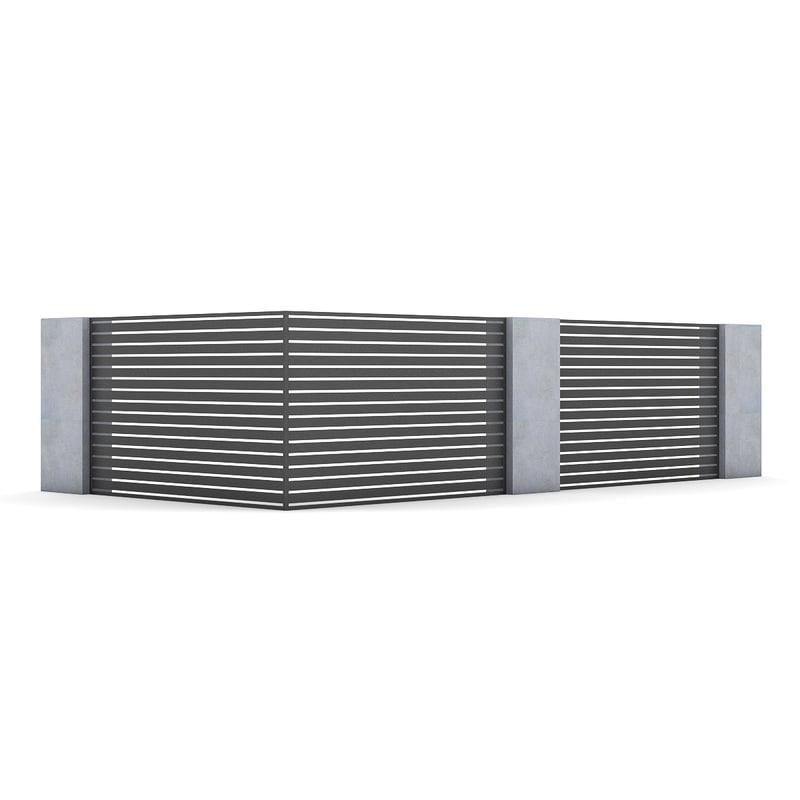 3dsmax concrete fence