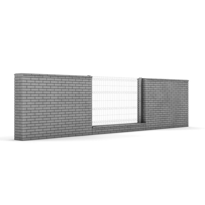 c4d concrete fence