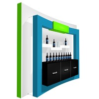 3d wall custom display model