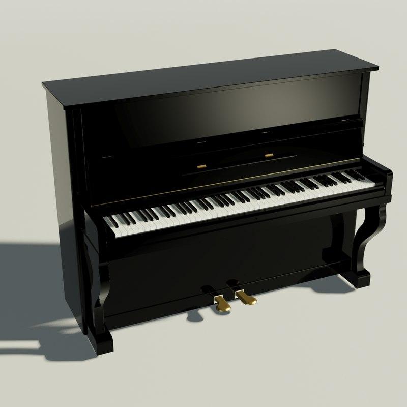 obj piano animation