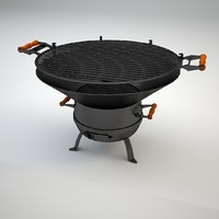 3d model of garden grill