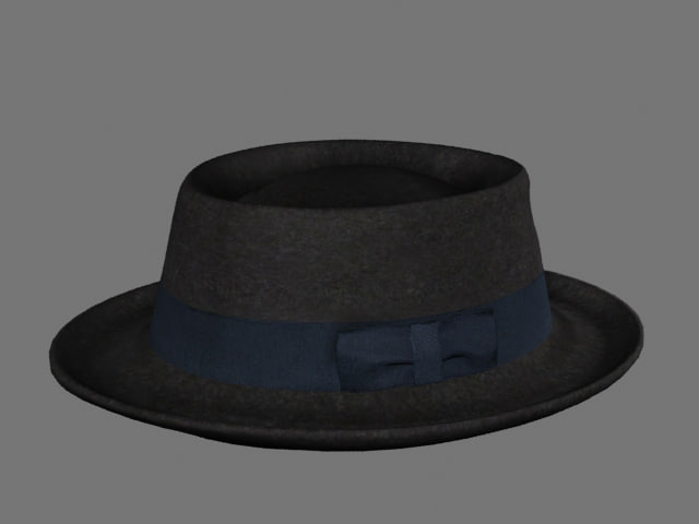 pork pie hat 3d 3ds