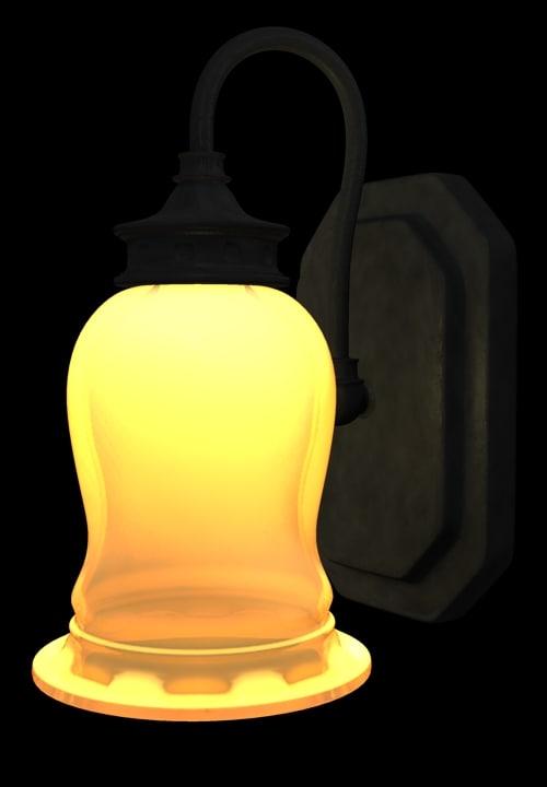 obj wall lamp