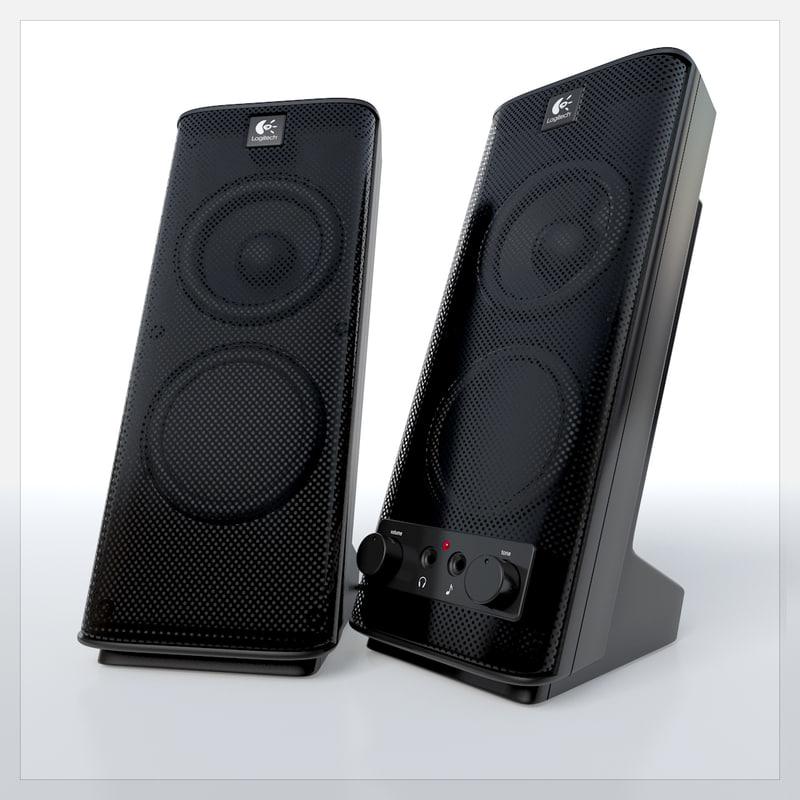 3d logitech x 140 speakers model
