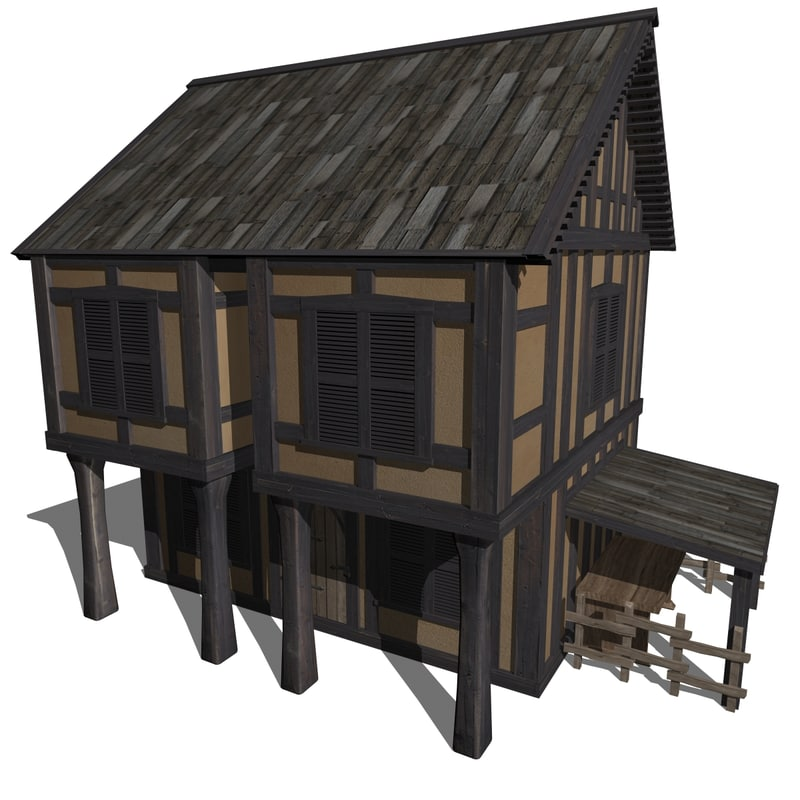 house medieval 3ds