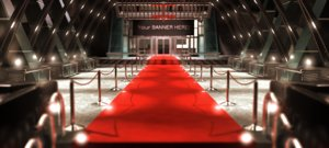 3d model of red carpet