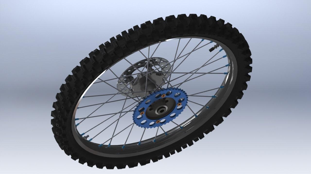 3d rear wheel