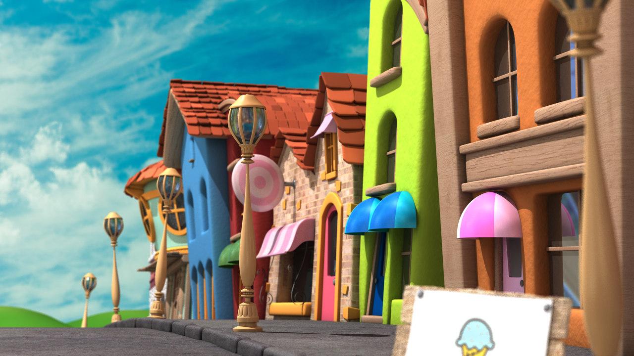 3ds max cartoon street