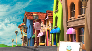 3ds max cartoon street