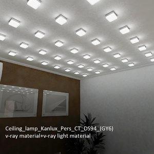 3d model ceiling lamp kanlux pers