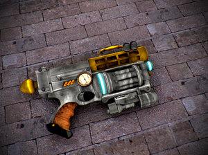 3d nerf gun steam punked model