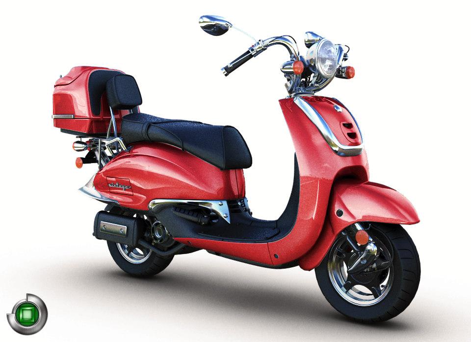 3d model modern vintage 150 vespa scooter